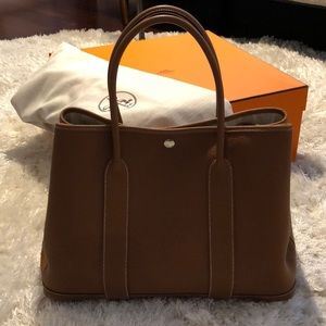 Hermes Garden party bag 36(gold color)